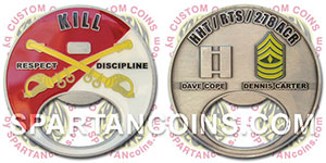 die cast custom army coin